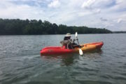 Charlotte North CArolina dog kayak tour