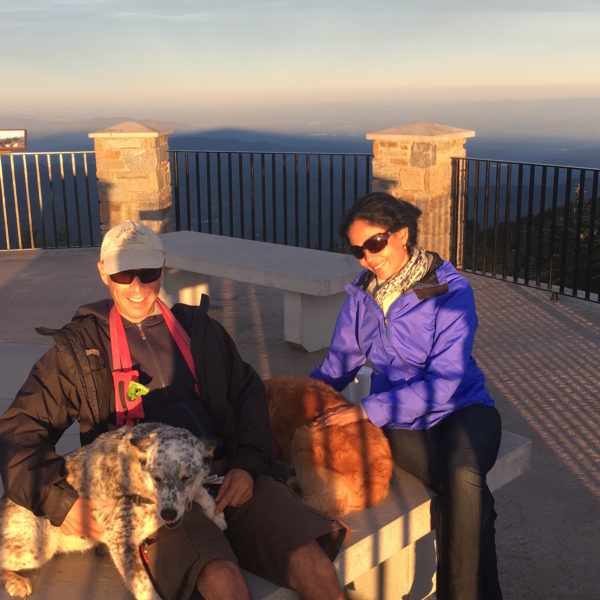 Happy Tails Tours founders, David and Claudia with their dogs