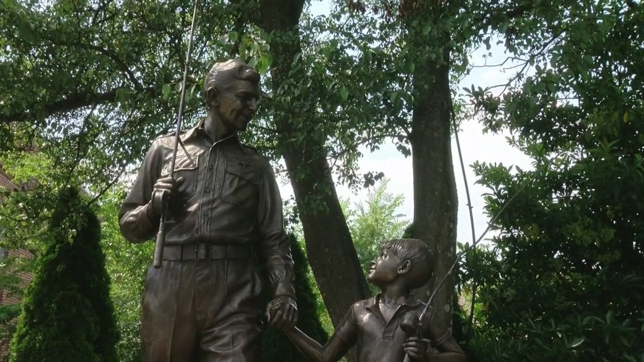 A photo of a statue during the Andy Griffith's Mayberry & Mount Pilot Tour