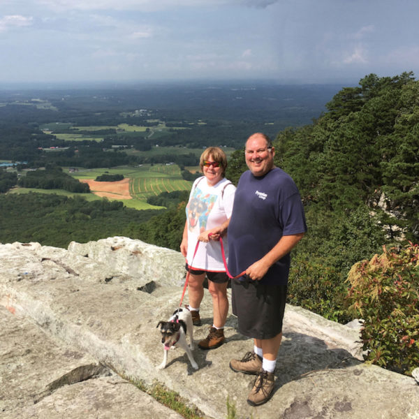 Hiking with dogs at Pilot Mountain