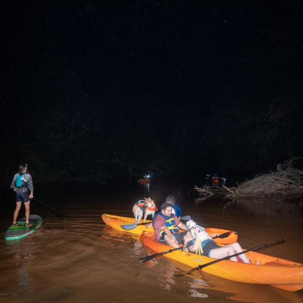 Full moon kayaking and SUP adventure