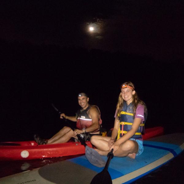 full moon kayaking tours