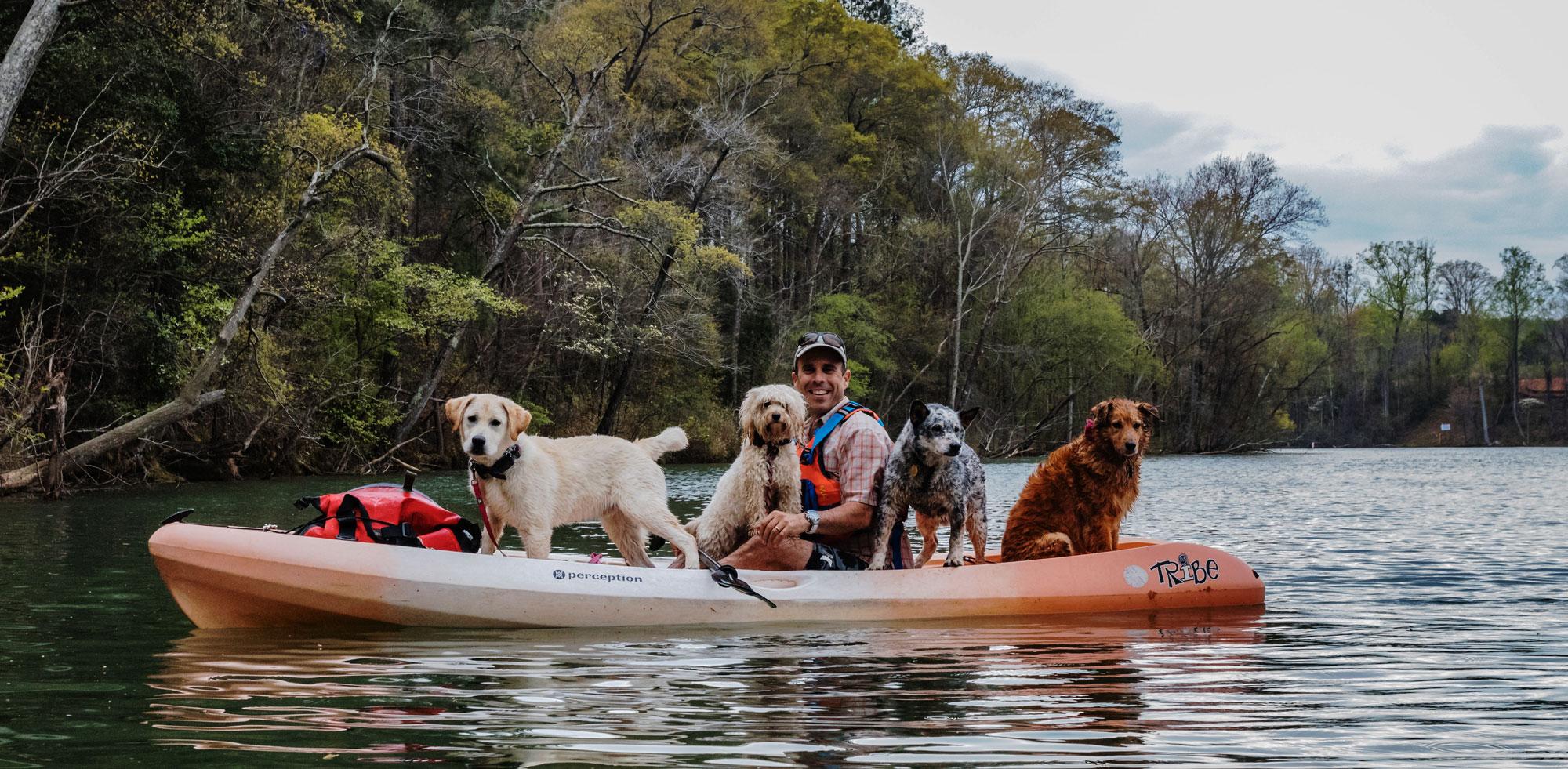Happy Tails Tours Dog kayaking tour