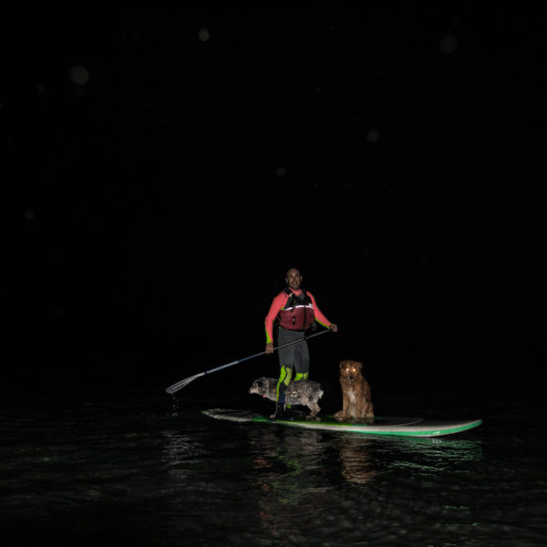 exploring the river by stand up paddle boarding